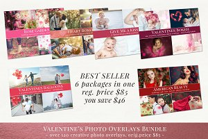Valentine's photo overlays - bundle