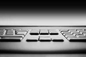 Keyboard keys bokeh background