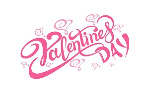 Valentines day, Lettering Design