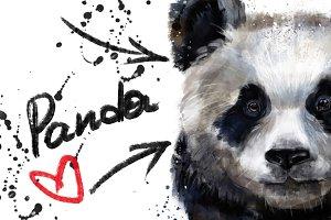 cute panda art