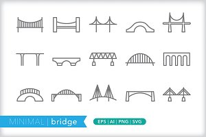Minimal bridge icons