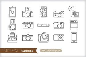 Minimal camera icons