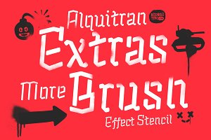 Alquitran Stencil Extra+Brush Psd
