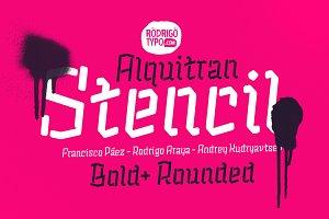 Alquitran Stencil Bold + Round-50%