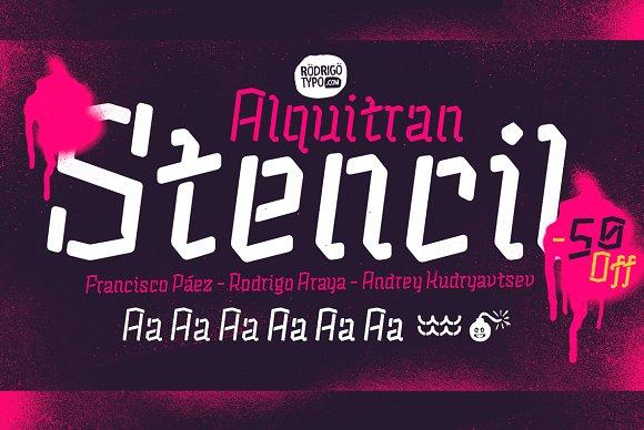 Alquitran Stencil 50% Cyrillic