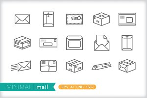 Minimal mail icons