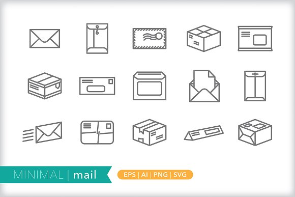 Minimal Mail Icons