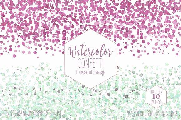 Watercolor Confetti Dot Borders
