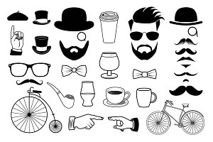 Hipster Graphics Clipart Set