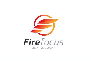 F Letter Fire Focus