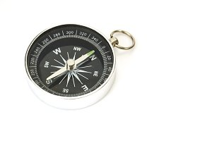 Frontal view of isolated compass