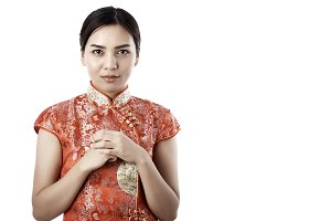 woman  cheongsam Chinese new year