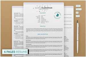5 Page Resume Template