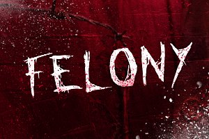 FELONY - HAND DRAWN TYPEFACE