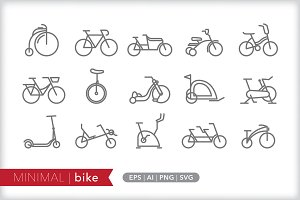Minimal bike icons