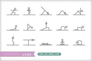 Minimal yoga icons