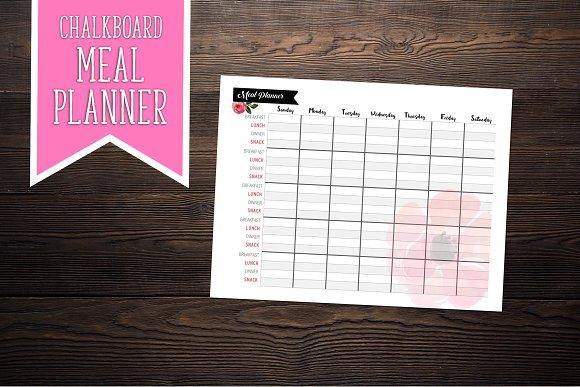 Chalkboard Meal Planner