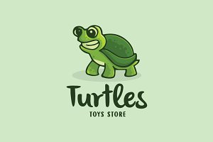 Turtles Cartoon Logo