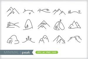 Minimal peak icons
