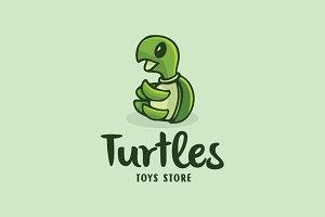 Turtles Funny Cartoon Logo