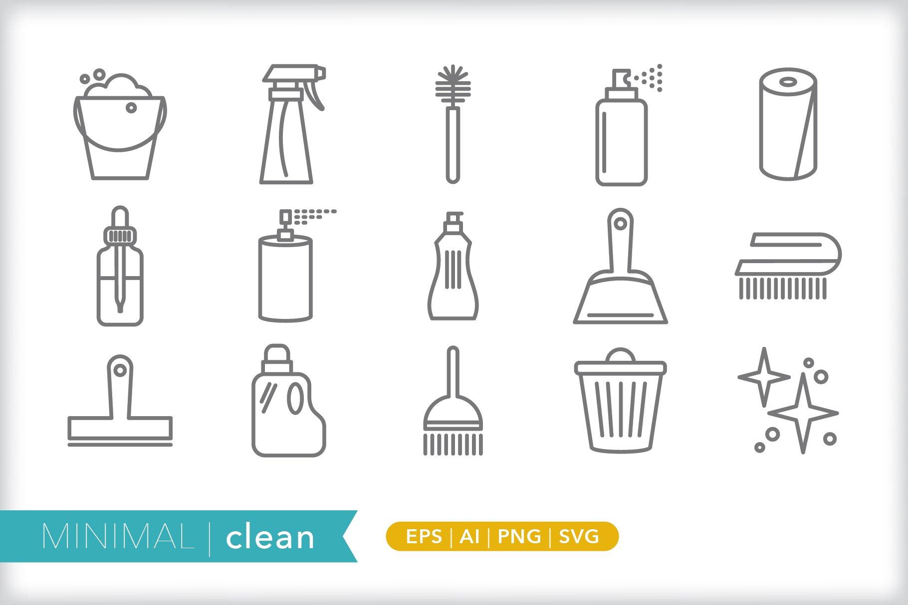 minimal clean icons icons creative market