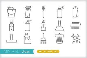 Minimal clean icons