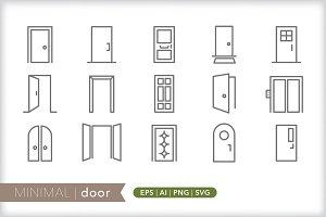 Minimal door icons