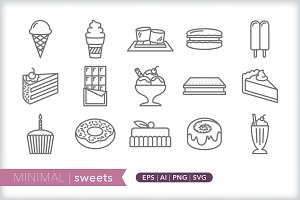 Minimal sweets icons