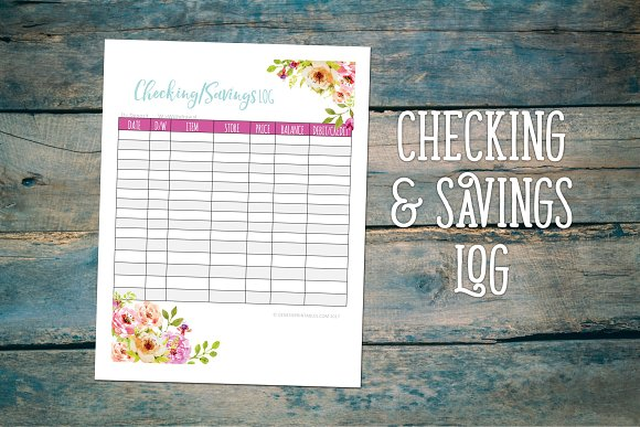Checking And Savings Log Tracker