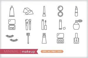 Minimal makeup icons