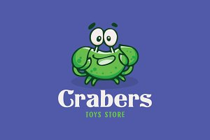 Crab Funny Cartoon Logo