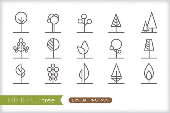 Minimal Tree Icons