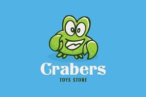 Crab Funny Cartoon Logo