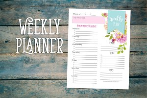 Weekly Planner in Floral Design