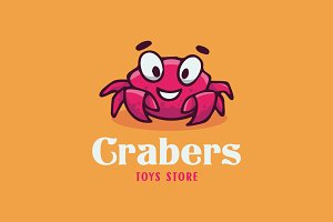 Crab Cartoon Logo