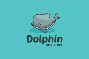 Dolphin Cute Cartoon Logo