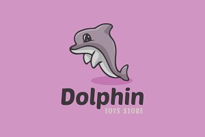 Dolphin Cartoon Logo