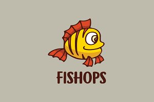 Fish Cartoon Logo