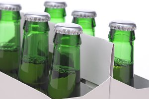 Close up of a Six Pack of Beer