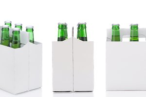 Three views of a Six Pack of green B
