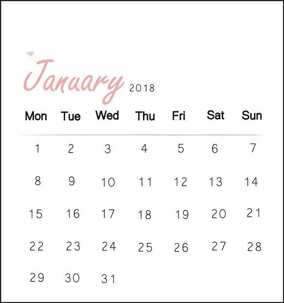 Sweet Pink Calendar