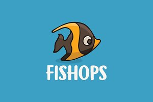 Sea Fish Cartoon Logo