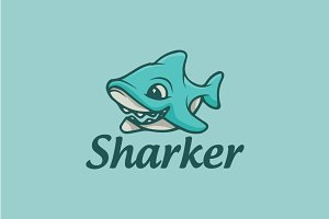 Baby Shark Cartoon Logo