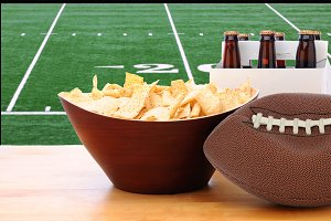 Chips, Deflated Football and Beer an