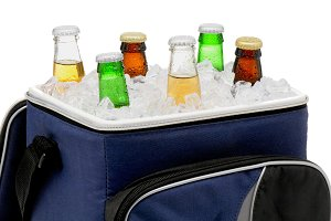 Beer Bottles in Cooler