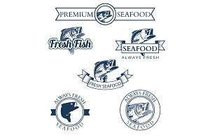 Seafood Market Labels