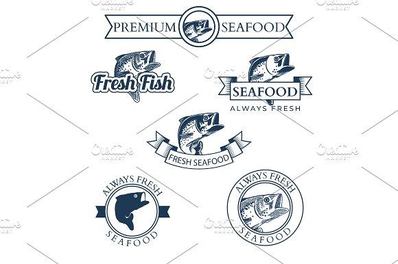 Seafood Market Labels