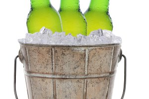 Old Fashioned Beer Bucket With Three
