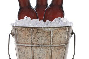 Old Fashioned Metal Beer Bucket