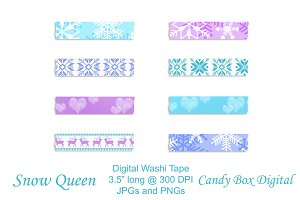 Snow Queen Digital Washi Tape